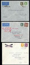IRAQ 1930 COLLECTION OF SIX AIR MAIL COVERS ALL FRANKED WITH KING GHAZI
