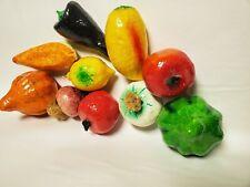 Lot of 10 Papier Mache Fruit Vegetables