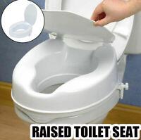 White Raised Toilet Seat Portable Soft Cover Flush Cushion
