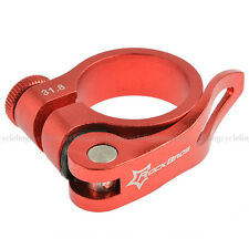 Rockbros Road MTB Seatpost Clamp Bike Seat Post Clamp Quick Release 31.8mm Red