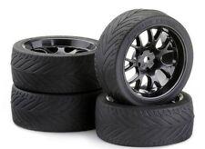 Ansmann 552110143 Touring ensemble de roues 3mm GP W-parle, noir, 4 Pièces