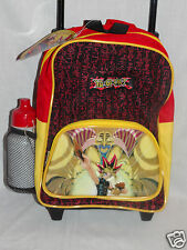 "NEW WITH TAGS YU GI OH SMALL ROLLING BACKPACK 9"" X 12""   WITH WATER BOTTLE"