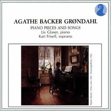 AGATHE BACK GRONDAHL: PIANO PIECES AND SONGS NEW CD