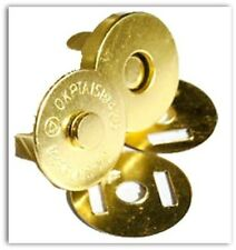 6 Set Magnetic Bag Clasps Fasteners Gold 14mm Small UK SELLER