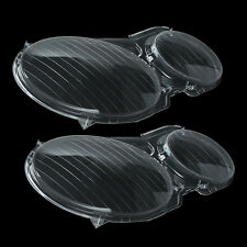 Pair Headlight Clear Lens Cover For MERCEDES BENZ E CLASS W211 E350 E300 02-08
