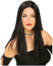 Long Black Tiffany Wig with Middle Part