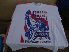 Tee-shirt  World Cup 1994 USA Snickers T XL football