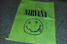 Nirvana Backback Drawstring Bookbag 90s Grunge Kurt Cobain Gym Bag Camping Sport
