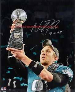 Nick Foles Philadelphia Eagles SBLII CHAMPS 1 Autographed 8x10 Photo (RP)