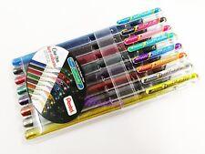 (8 Colors Set) Pentel K110 Hybrid Dual Metallic Gel Pen 1.0mm Broad
