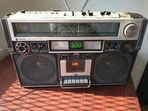 JVC VINTAGE BOOMBOX RC-838JW II STEREO AM/FM CASSETTE RADIO original owner works