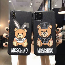 Fashion Moschino Bear Glossy Phone Case Cover for iphone 7 8 Plus X XS MAX Apple