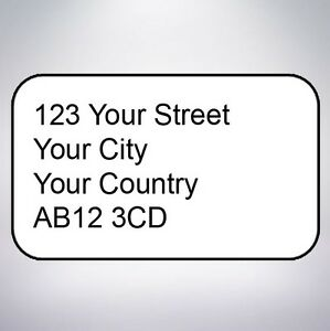 Return Address - Printed Small Stickers - Custom labels - postage -Personalised