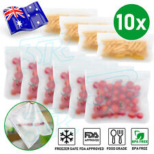 Reusable PEVA Silicone Fruit Food Bag Leakproof Ziplock Freezer Kitchen Storage