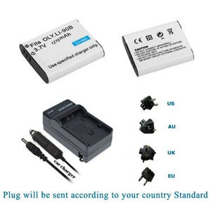 Battery (2 Pack) +Charger for DB-110 Ricoh GR3 GR III GRIII Camera