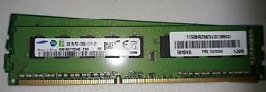 Samsung    2gb 1rx8 pc3-12800e-11-11-d1 (4 pack) ** used