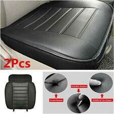 2Pcs PU Leather Car Front Seat Cover Protector Cushion For Interior Accessories