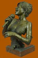 African American Singer Trophy Award Bronze Sculpture Music Musician Singer DEAL