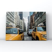 Cities and cityscapes canvas wall art -  Yellow taxi cab, New York