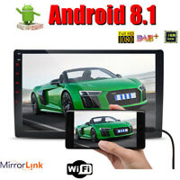 """10.1"""" Car Android 8.1 2Din Stereo Radio 4G WIFI GPS No-DVD Player Quad-Core"""