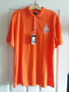 Indy 500 Borg Warner Trophy Mens L Callaway Opti Dri Mandarin Orange Polo Shirt
