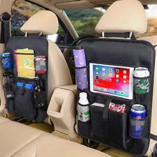 Car Back Seat Organizer Tablet Holder Car Storage Pockets Kick Mats Protectors