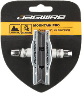 Jagwire Mountain Pro Bicycle Rim Brake Pads Threaded Post Silver Replacement