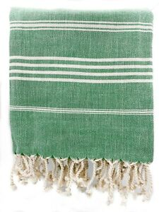 "Turkish Beach Towel Blanket 100%Cotton Striped Bath Towel Picnic Blanket 36""x68"""