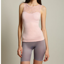 d12389cc90 Spanx Hide Sleek 1503 Lace Bateau Tank Rosebud Pink Camisole Cami 2x Woman