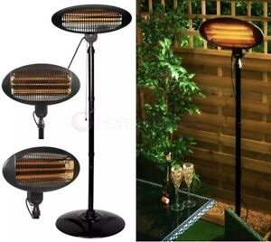 🔥Black Premium Rounded Standing Electric Patio Heater ✅FREE DELIVERY✅