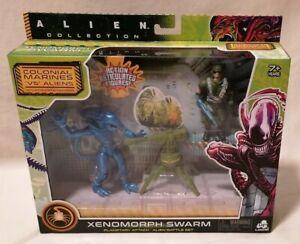 ALIENS - *MIB* Alien Xenomorph Swarm Warrior Planetary Attack Figure Pack Lanard