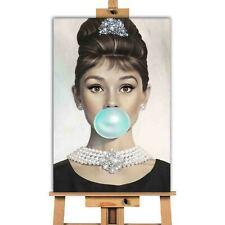 Audrey Hepburn Chicle LONA pared arte impresión