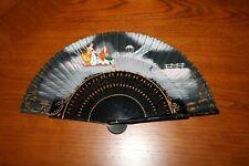 Vintage - El Corte Ingles - Folding Fan - Black - Beautiful
