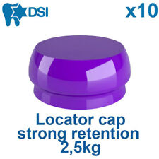 10 Purple Implant Locator Flat Abutment Silicone Female Insert Cap Strong