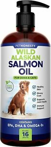 PetHonesty Wild Alaskan Salmon Oil for Dogs EPA DHA & Omega 3 - Anti Itch & Shed