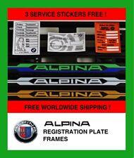 2X BMW ALPINA 3 couleurs Numéro De Plaque Entoure autocollant support Frame inscription