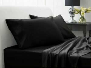 Australian Bedding Items Cotton Double/Queen/King/Super King Black Solid