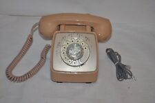GTE AUTOMATIC ELECTRIC  Vintage  TAN ROTARY desk TELEPHONE  RETRO CHIC!!