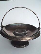 Antique Victorian Brides Basket Holder Silver Plate Meriden Pedestal Patterned