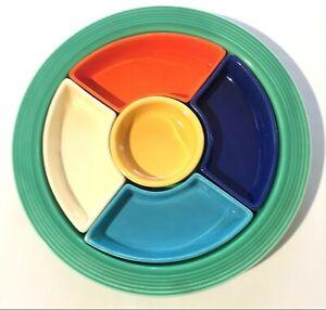 Fiestaware, Vintage HLC Relish Dish/Snack Tray, All 6 Original Colors, Prime