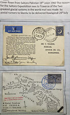 1960 Pakistan Airmail Postcard Cover To Rawalpindi Saltoro Expedition