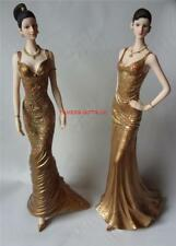 A Pair of Gold Lady Figurines by Leonardo Birthday Gift