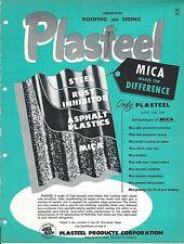 MRO Brochure - Plasteel Corrugated Roofing Siding Mica Plastic Steel 1952 (MR80)