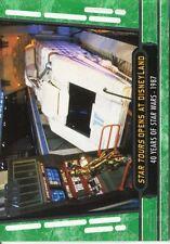 Star Wars 40th Anniversary Green Base Card #71 Star Tours Opens at Disneyland
