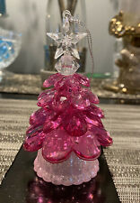 Bath And Body Works Pink Christmas Light Up Tree Decoration Candle Magnet