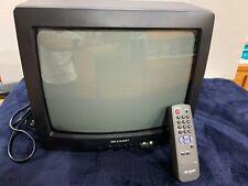 """Vtg Sharp 13N 13204 13"""" CRT TV A/V Inputs Retro Gaming Orig. Remote Tested Works"""