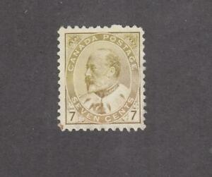 CANADA # 92 VF-MNG UNUSED  KEV11 7cts CAT VALUE $160
