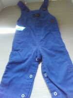 Vintage Health-Tex All-American Overall Blue Corduroy 70's 18 months