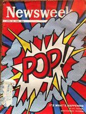 """Roy Lichtenstein Original Newsweek Magazine  Lichtenstein """"Pop"""""""