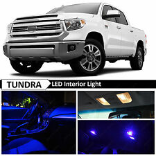 2007-2016 Toyota Tundra Blue Interior + License Plate LED Lights Package Kit